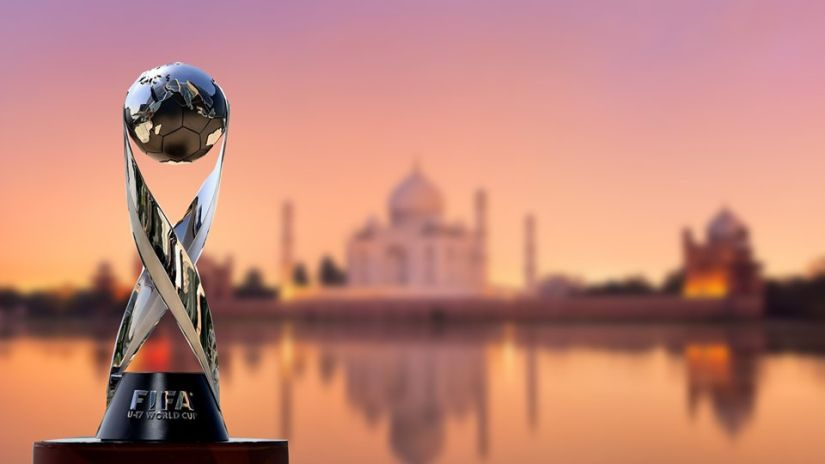The FIFA U-17 World Cup 2017 trophy. Image courtesy Twitter
