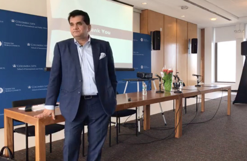 Amitabh Kant at the Columbia School of International and Public Affairs