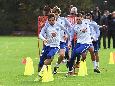 Chelsea have cut down training by 70 percent because of Champions League. Image courtesy: Twitter @ChelseaFC
