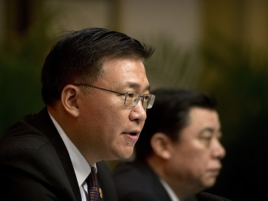 File image of Guo Yezhou, vice minister of the International Department of China's Communist Party. AP