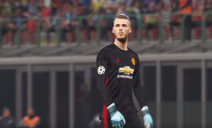 A post-patch David De Gea in all his finery. Screen grab from YouTube