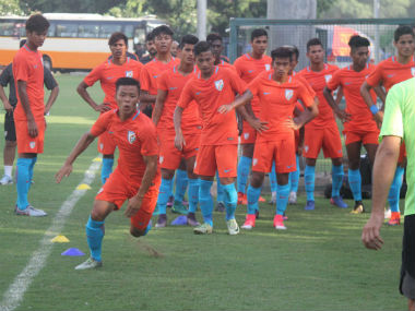 File photo of India U-17 team practising fior the World Cup. Twitter @IndianFootball