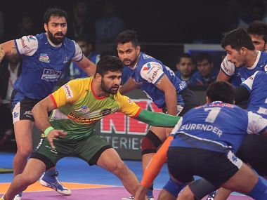 Pardeep Narwal in action against Haryana Steelers in eliminators. Image courtesy: PKL official website