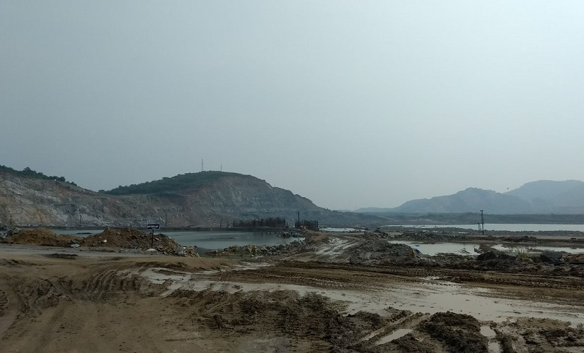 Construction has halted at the dam site. Rahul Maganti/Firstpost