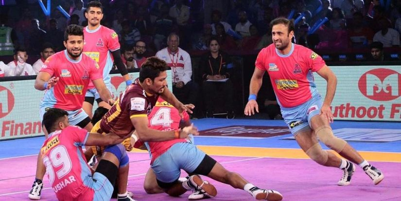 Rishank Devadiga scored the most nmumber of points by an individual player in a single match against Jaipur Pink Panthers. PKL