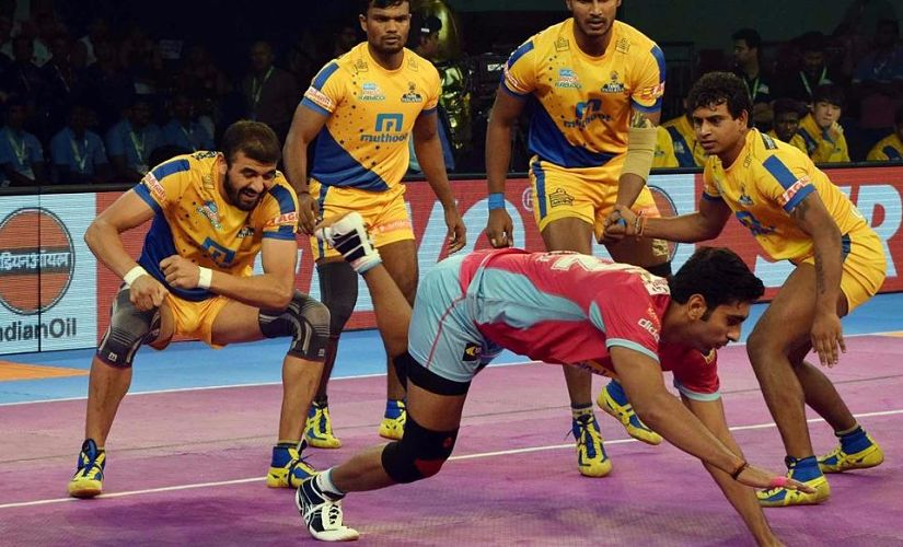 Pro Kabaddi 2017: Gujarat Fortunegiants beat Jaipur Pink Panthers 29-23