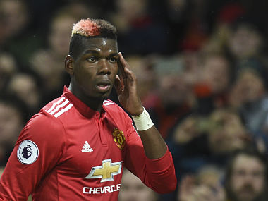 Manchester United's French midfielder Paul Pogba leaves the pitch substituted during the English Premier League football match between Manchester United and Newcastle at Old Trafford in Manchester, north west England, on November 18, 2017. / AFP PHOTO / Oli SCARFF / RESTRICTED TO EDITORIAL USE. No use with unauthorized audio, video, data, fixture lists, club/league logos or 'live' services. Online in-match use limited to 75 images, no video emulation. No use in betting, games or single club/league/player publications. /