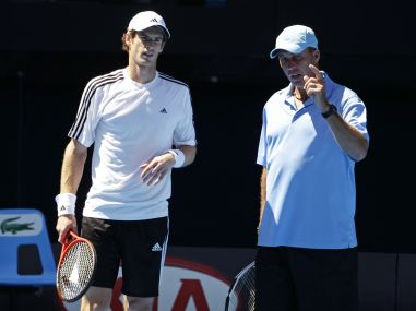 File photo of Andy Murray talking with coach Ivan Lendl. AP