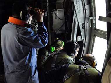 Members of the Argentine Air Force search for a missing submarine in the South Atlantic near Argentina's coast. AP