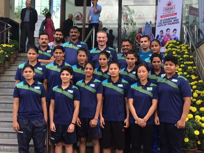 The Indian contingent at the AIBA Youth Women's Boxing Championships