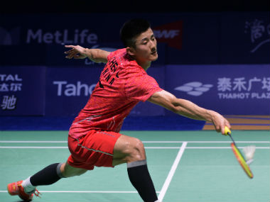 Chen Long in action against Viktor Axelsen in the final of China Open. AFP
