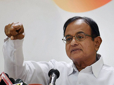 File image of former finance minister P Chidambaram. PTI