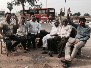 Members of the Patel samaaj, who work in the diamond, textile and real estate sectors in Surat. Firstpost/ Pallavi R