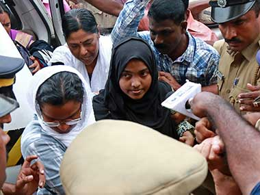 File image of Akhila, who converted to Islam in 2016 and took a new name, Hadiya. Reuters