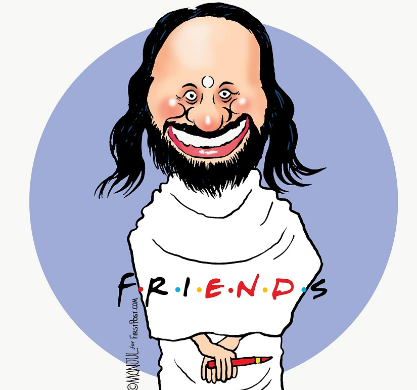 """Friends: Sri Sri Ravi Shankar was once friends with Arvind Kejriwal. They don't see eye-to-eye anymore. He was once rivals with Baba Ramdev. But they came together to uphold the sanctity of yoga. Clearly, in his world, friends and enemies will """"come and go""""."""