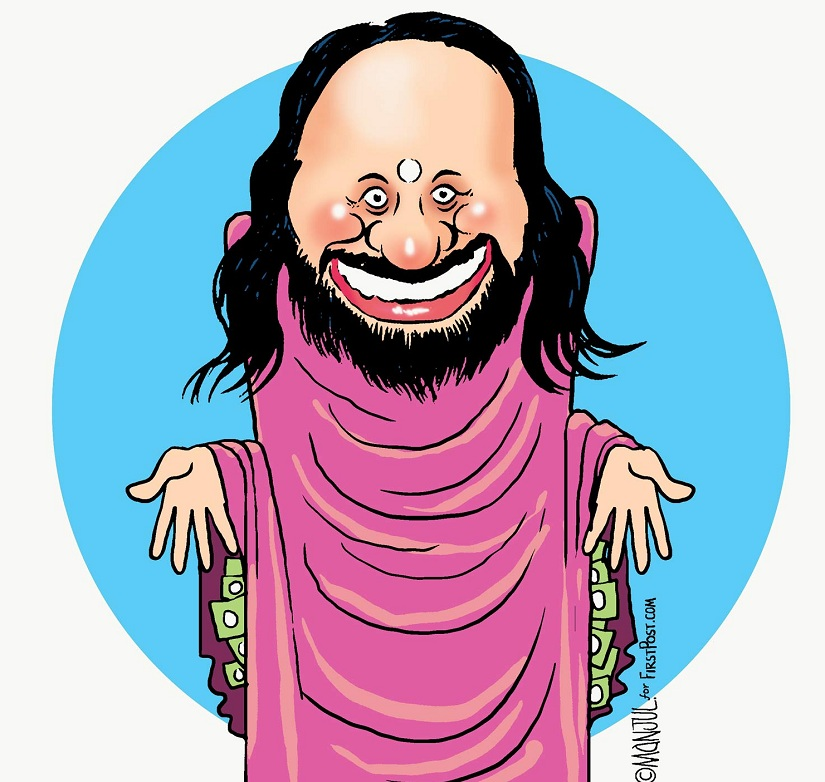 """Wealth: Sri Sri is reportedly worth over Rs 1,000 crore. But if he's held accountable for the damage caused to the Yamuna floodplains, the wealth might """"come and go""""."""