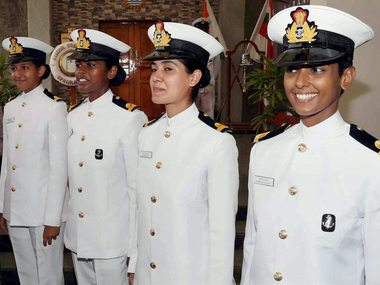 Ezhimala: Women cadets who were inducted into the Indian Navy at Indian Naval Academy at Ezhimala in Kannur on Wednesday. PTI