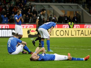 Italy failed to qualify for World Cup for the first time in 60 years. Reuters