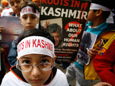 File image of Kashmiri Pandits. AFP