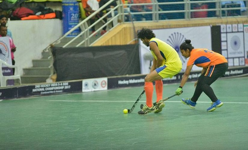 As the tournament progressed, female players learnt to use their guile to overcome the disadvantage due to physicality. Image courtesy: Facebook/Hockey India