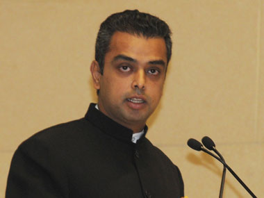 Congress leader Milind Deora. Image courtesy PIB