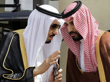 File image of King Salman (left) and Crown Prince Mohammed bin Salman (MBS). AP