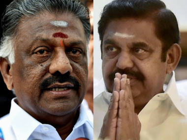 File image of Tamil Nadu deputy chief minsiter O Panneerselvam and Chief Minister E Palaniswamy. PTI