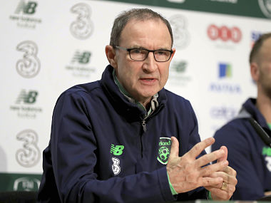 Ireland manager Martin O'Neill speaks during a press conference. AP