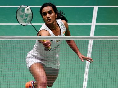File photo of PV Sindhu in action. AFP
