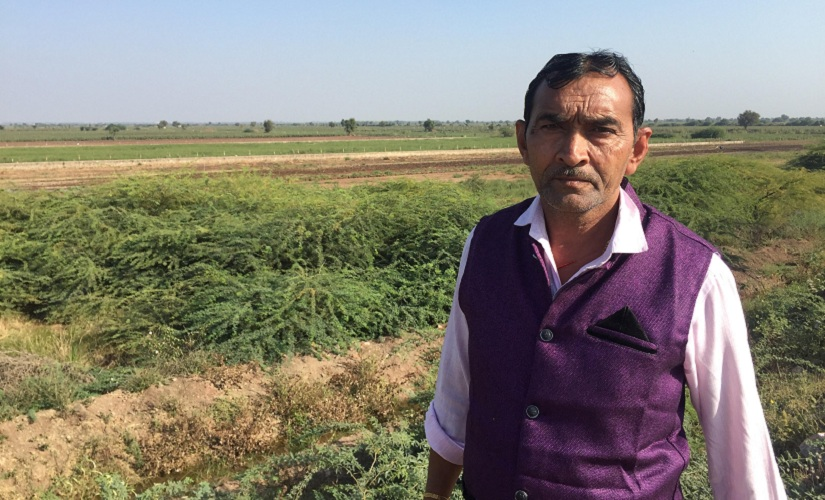 KM Chawda, a farmer from the village of Rampara. Firstpost/Parth MN