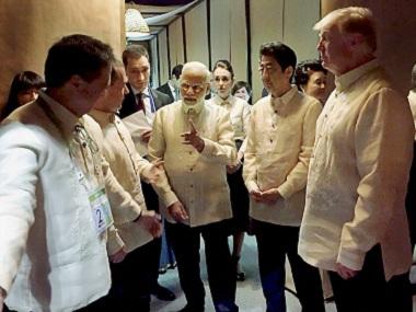 Leaders of India, Japan, Australia and the US met in Manila this week. PTI