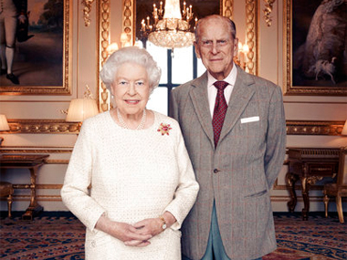 File image of Queen Elizabeth and Prince Phillip at Buckingham Palace. AP