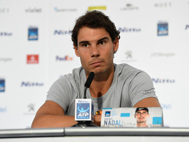 Tennis - ATP World Tour Finals Preview - The O2 Arena, London, Britain - November 10, 2017 Spain's Rafael Nadal during the press conference ahead of the ATP World Tour Finals Action Images via Reuters/Tony O'Brien - RC12F67DC330