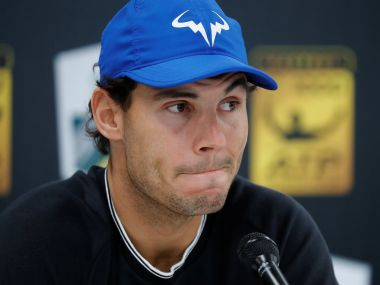 File photo of Spain's Rafael Nadal during a press conference. Reuters