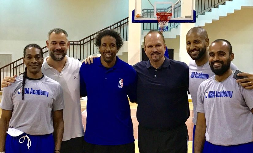 Scott Flemming (RC), Senior Director of Basketball Operations for NBA India is looking to build a basketball culture in India. Image Courtesy: Twitter/@scottwflemming