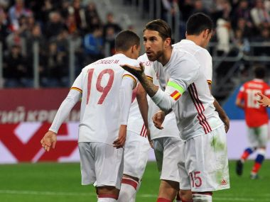 Sergio Ramos' brace went in vain as Russia held Spain to a draw. AFP