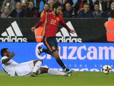 08241c1d8c65 Madrid  Real Madrid playmaker Isco withdrew on Sunday from the Spain squad  for Tuesday s friendly away to Russia in preparation for next year s World  Cup ...