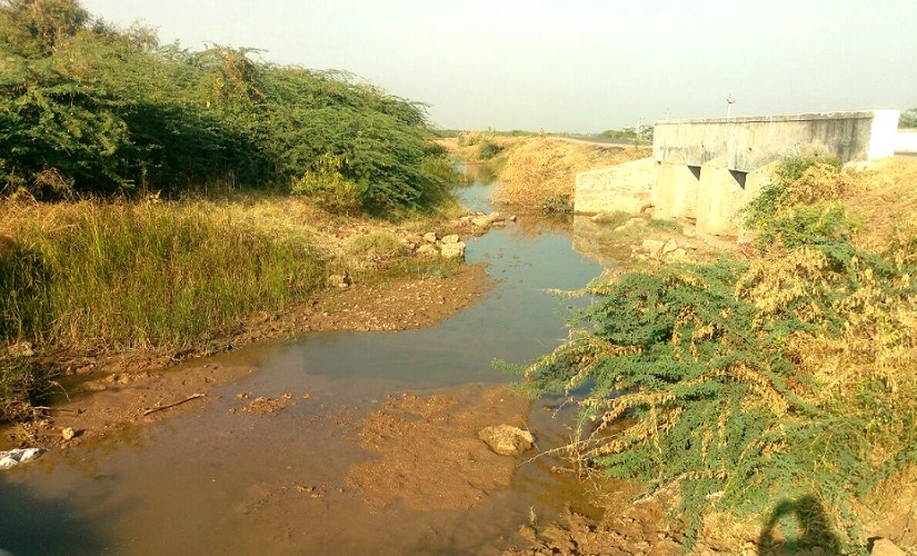 The land allotted to Valmiki community for burial remains submerged in water. Image procured by the author.