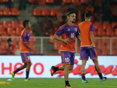 FC Pune City captain Marcelinho will look to inspire his team against his former employers. Twitter/ISL