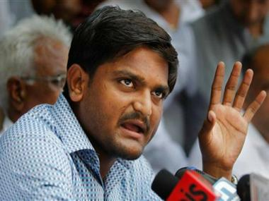 File image of Patidar quota stir leader Hardik Patel. CNN-News 18
