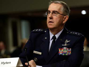 File image of head of Strategic Command, General John Hyten. Reuters