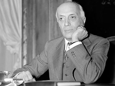 File image of India's first prime minister Jawaharlal Nehru. AFP