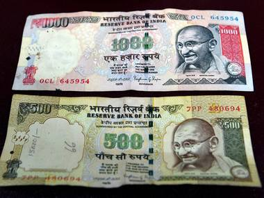 Old notes of Rs 500 and Rs 1000. PTI