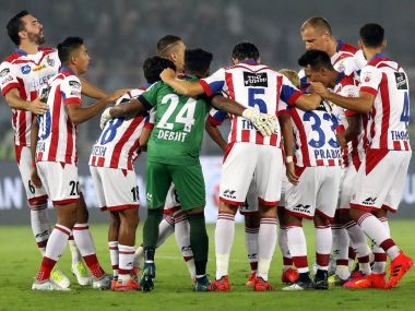 ATK players in a huddle. Twitter/ @WorldATK