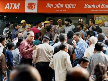 Demonetisation caused long queues outside banks.