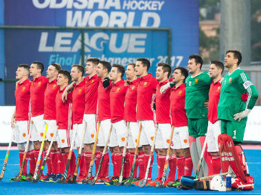 The England hockey team competing at the Hockey World Final. Twitter: @EnglandHockey