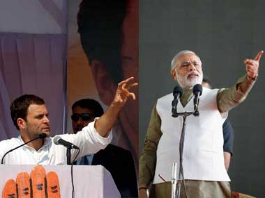 Congress vice-president Rahul Gandhi (left) and Prime Minister Narendra Modi. Agencies