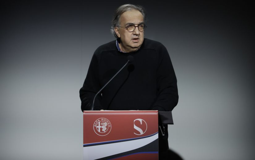 Sergio Marchionne delivers his speech on the occasion of the Alfa Romeo Sauber F1 Team  official presentation. AP