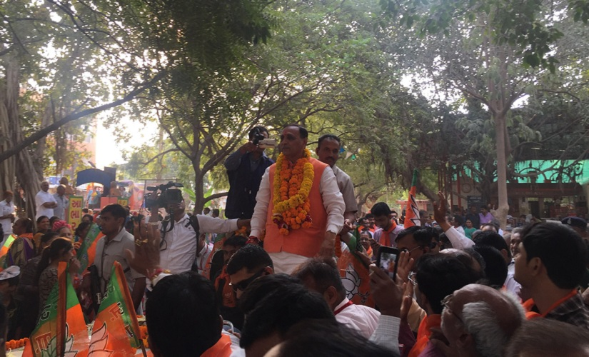 Chief Minister Vijay Rupani's rallies have been thinly attended. Firstpost/Parth MN