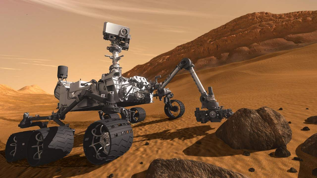 An illustration of the Opportunity rover striking a pose. Image: NASA